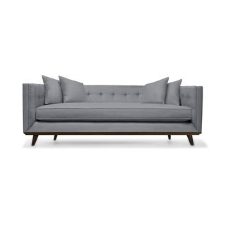 South Cone Home Colin Mid-century Tufted Linen Sofa