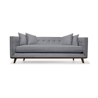 Colin Mid Century Tufted Linen Sofa