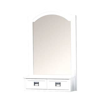 "Burton White Framed Wall Mirror (24"" x 30"")"