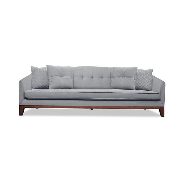 Amazing Shop Lois Mid Century Tufted Linen Sofa Free Shipping Machost Co Dining Chair Design Ideas Machostcouk