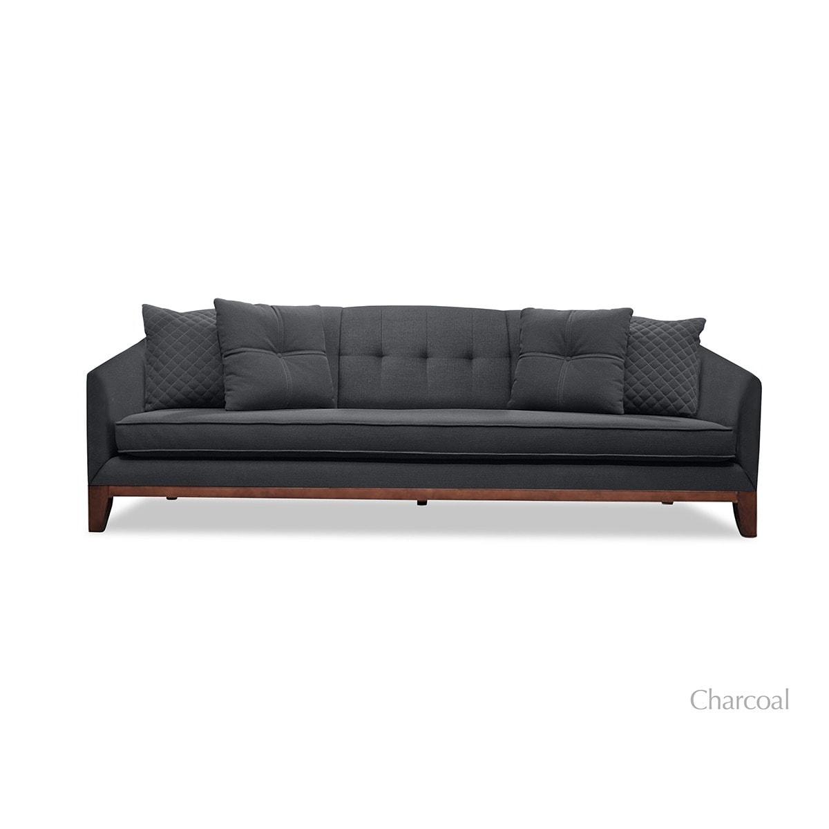 Incredible Lois Mid Century Tufted Linen Sofa Machost Co Dining Chair Design Ideas Machostcouk