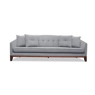 Lois Mid Century Tufted Linen Sofa