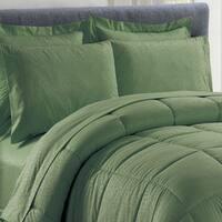 8-Piece Vine Sage Down Alternative Bed-In-Bag