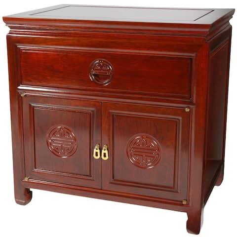 "Handmade Rosewood Bedside Cabinet - 22""H x 14""D x 22""W"