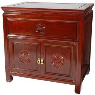"Handmade Rosewood Bedside Cabinet - 22""H x 14""D x 22""W"