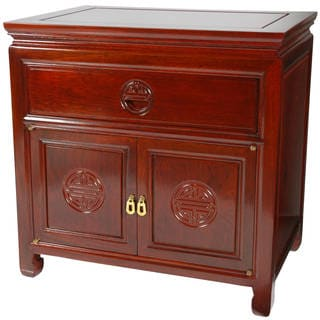 Handmade Rosewood Bedside Cabinet (China)