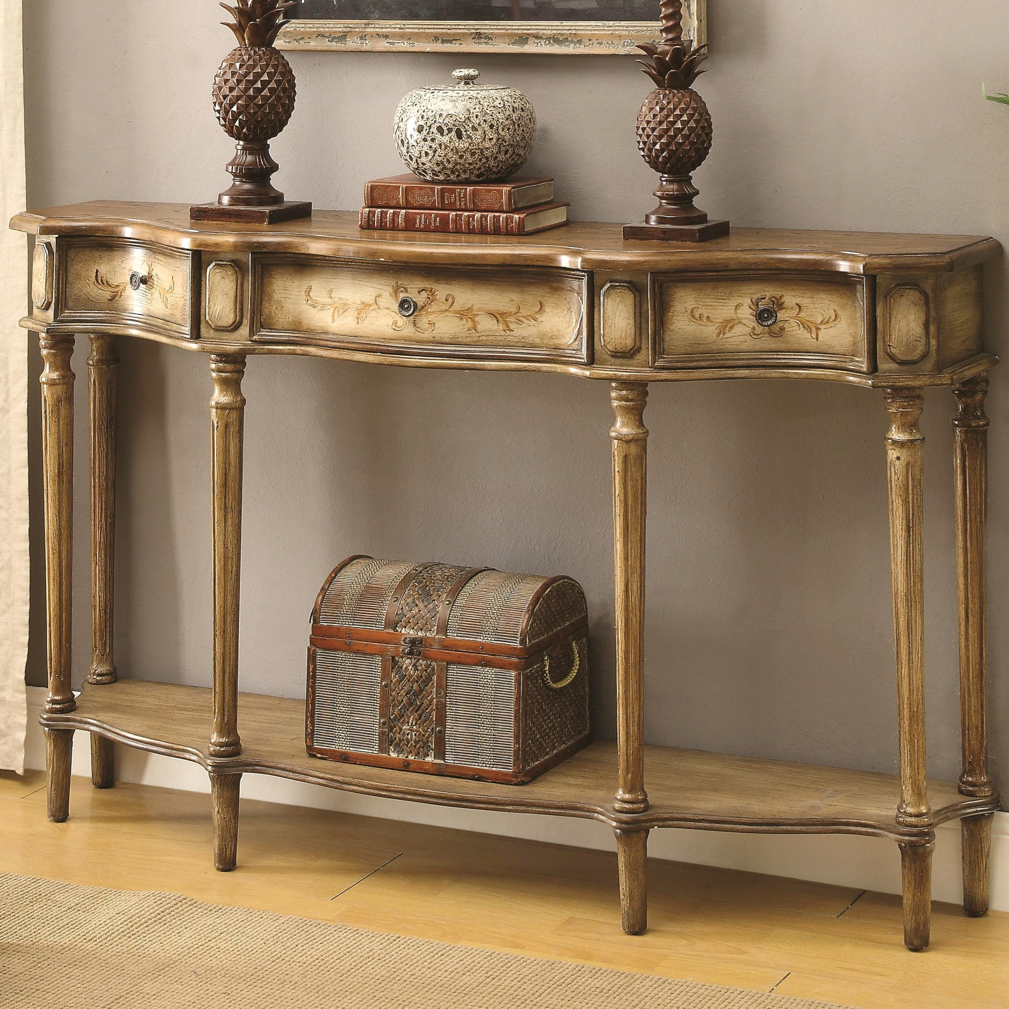 Milgrome Antique Painted Console Table (Console Table), B...