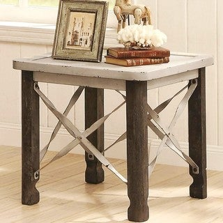 Industrial Distrssed Rustic Design End Table