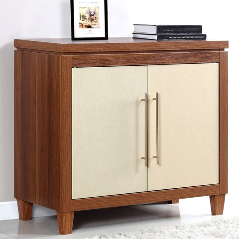 Mid-Century Modern Flare Two-tone Accent Cabinet