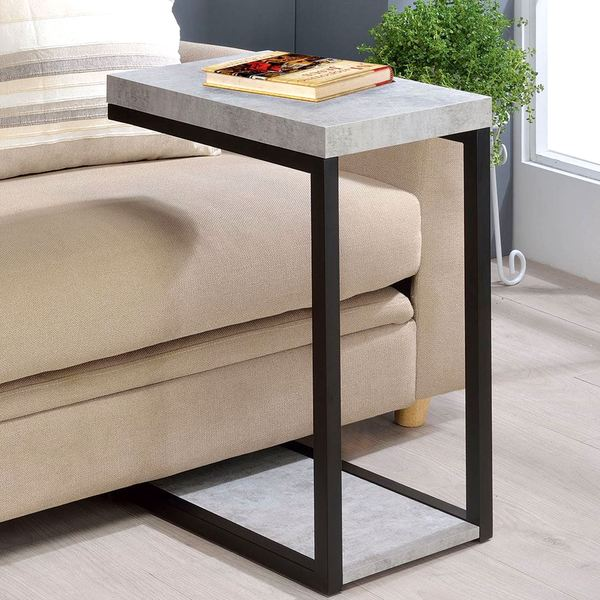 Industrial Storage Coffee Table Review: Shop Industrial Cement Design Accent Side Snack Table