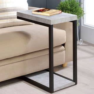 Cement Design Accent Side Snack Table