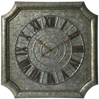 Infinity Instruments Stamped Metal, 22.75 inch Square Wall Clock