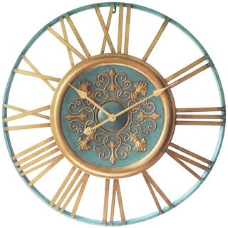Infinity Instruments Parisian Gold 27.5 inch Round Wall Clock