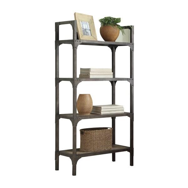 Shop Acme Furniture Gorden Bookshelf, Weathered Oak