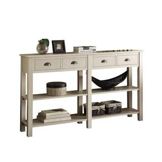 Acme Furniture Galileo Cream Wood Console Table