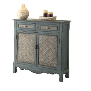 Acme Furniture Winchell Antique Blue Console Table