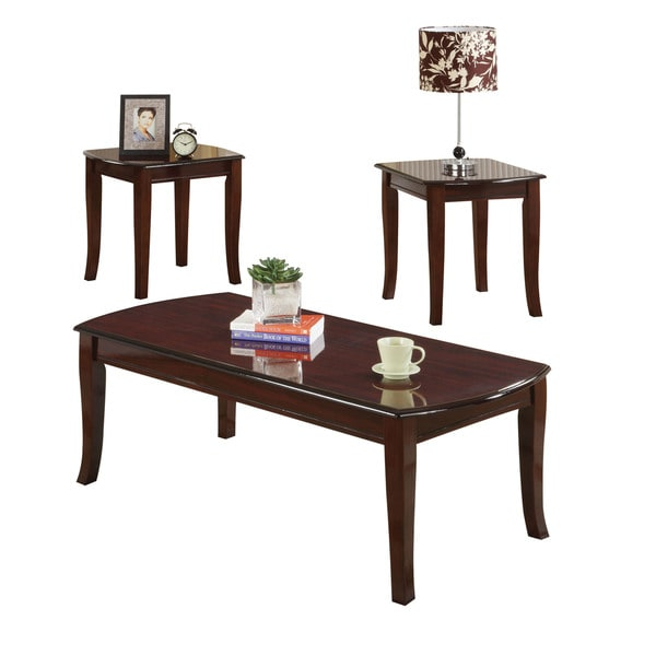 Shop Acme Furniture Camarillo Cherry Brown Wood End Tables Set Of 3