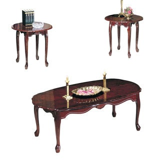 Acme Furniture Essex Cherry 3-piece Coffee and End Table Set