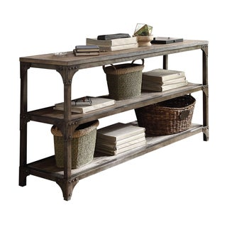 Link to Acme Furniture Gorden Weathered Oak and Antique Silver Console Table Similar Items in Living Room Furniture