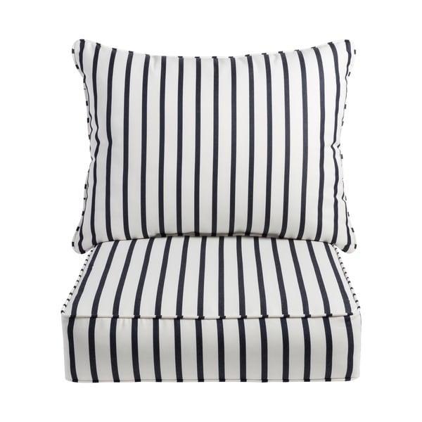 Sawyer Sunbrella Lido Indigo Indoor/ Outdoor Chair Cushion and ...