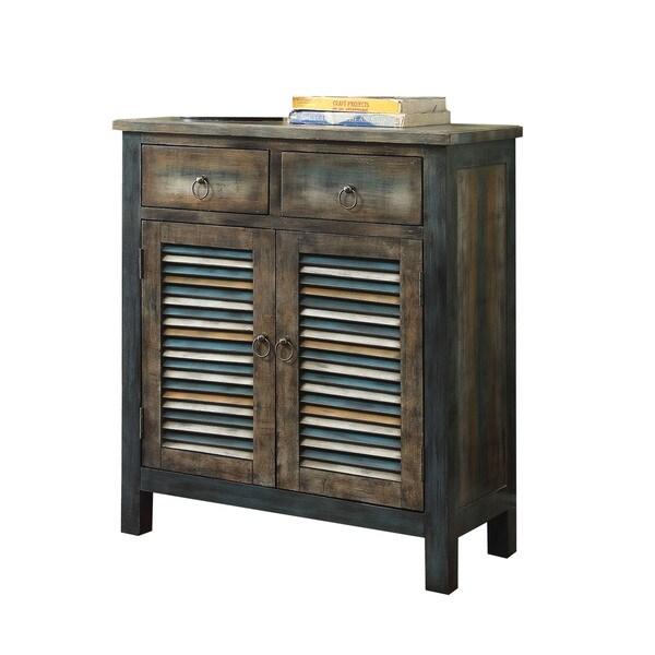 Teal Sofa Table: Shop Acme Furniture Glancio Antique Oak/ Teal Console