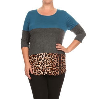 Women's Plus Size Crochet Lace Detail Tunic