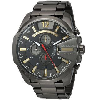 Diesel Men's DZ4421 'Mega Chief' Chronograph Black Stainless Steel Watch