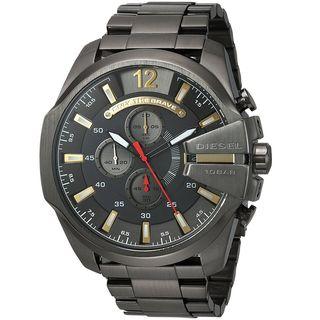 Diesel Men's DZ4421 'Mega Chief' Chronograph Black Stainless Steel Watch