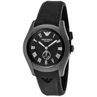Emporio Armani Women's AR1432 Black Silicone Watch
