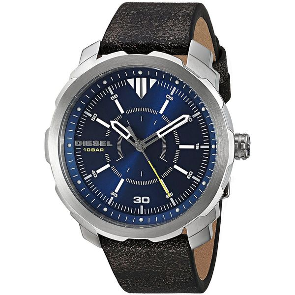 Diesel Men's DZ1787 'Machinus NSBB' Black Leather Watch. Opens flyout.