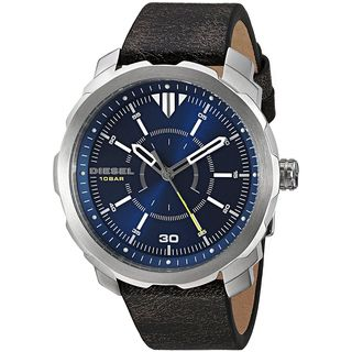 Diesel Men's DZ1787 'Machinus NSBB' Black Leather Watch