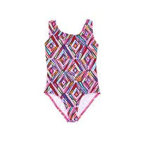 Dippin' Daisy's Girl's Pink Crystal Spandex Blend One Piece Swimsuit