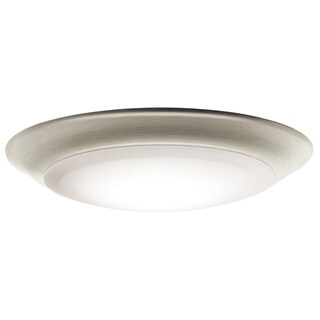 Kichler Lighting Utilitarian 1-light Brushed Nickel LED Flush Mount