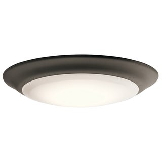 Kichler Lighting Utilitarian 1-light Olde Bronze LED Flush Mount