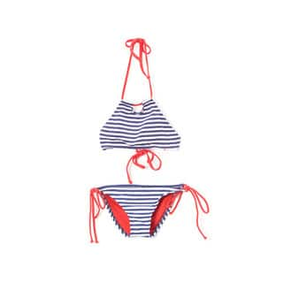 Dippin' Daisy's Girl's Navy Stripe Halter Hi-Neck Keyhole Top and Bikini Bottom|https://ak1.ostkcdn.com/images/products/14292468/P20876207.jpg?impolicy=medium