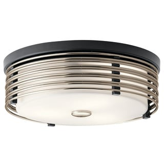 Kichler Lighting Bensimone Collection 2-light Black Flush Mount