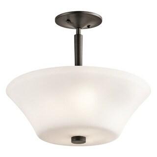 Kichler Lighting Aubrey Collection 3-light Olde Bronze LED Semi Flush Mount/Pendant