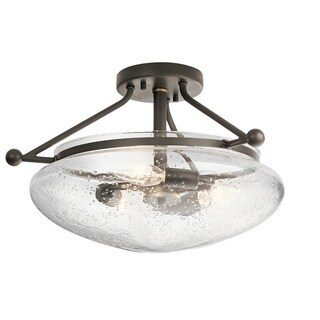 Kichler Lighting Belle Collection 3-light Olde Bronze Semi Flush Mount