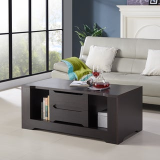 Furniture of America Halin Modern 2-drawer Espresso Coffee Table