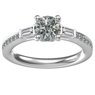 Sterling Silver 1.24 ct. Cubic Zirconia Classic Engagement Ring (Option: 6.25)