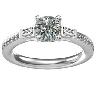 Sterling Silver 1.24 ct. Cubic Zirconia Classic Engagement Ring