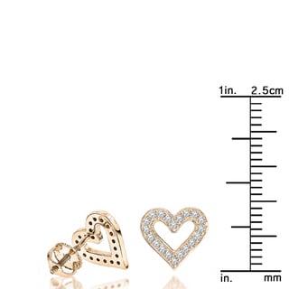Luxurman Diamond Heart Earrings 0.29ct 14K Gold (H-I; I1-I2)