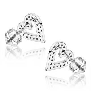 Luxurman Diamond Heart Earrings 0.29ct 14K Gold (H-I; I1-I2)
