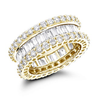Luxurman 14K Gold Diamond Eternity Band 5.72ct (G-H; VS1-VS2)