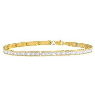 10KT Yellow Gold 1 CTTW Round Cut Diamond Bracelet (I-J,I3)