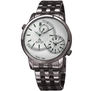 August Steiner Men's Dual Time Easy-to-Read Gun Stainless Steel Bracelet Watch with FREE GIFT|https://ak1.ostkcdn.com/images/products/14293224/P20876870.jpg?_ostk_perf_=percv&impolicy=medium