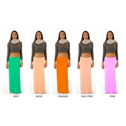 Dinamit Women's Rayon and Spandex Maxi Skirt