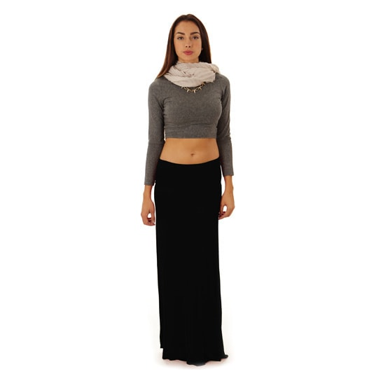 b49a98a853 Shop Dinamit Women's Rayon and Spandex Maxi Skirt - Free Shipping On Orders  Over $45 - Overstock - 14293302
