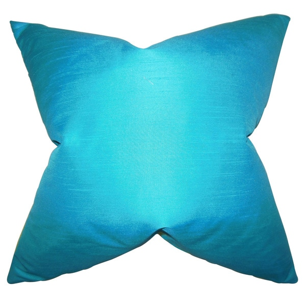 Baldwin 22-inch Solid Turquoise Down Feather Throw Pillow