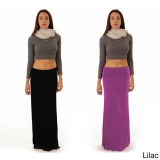 Dinamit Women's Black Rayon and Spandex Maxi Skirt (Set of 2)